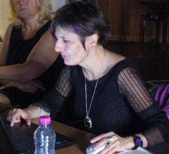 Ceci est une phot de Béatrice Pradillon-Marques durant la conférence à Thales Alenia Space, le 30 juin 2016.