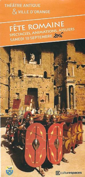Ceci est le recto du dépliant annonçant la journée romaine d