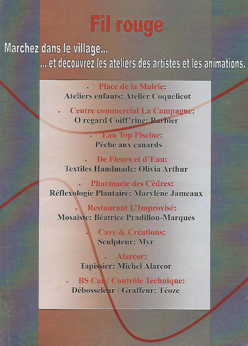 Ceci est le flyer (verso) de la Journée des 3A à Castelmaurou, le 30 septembre 2017.