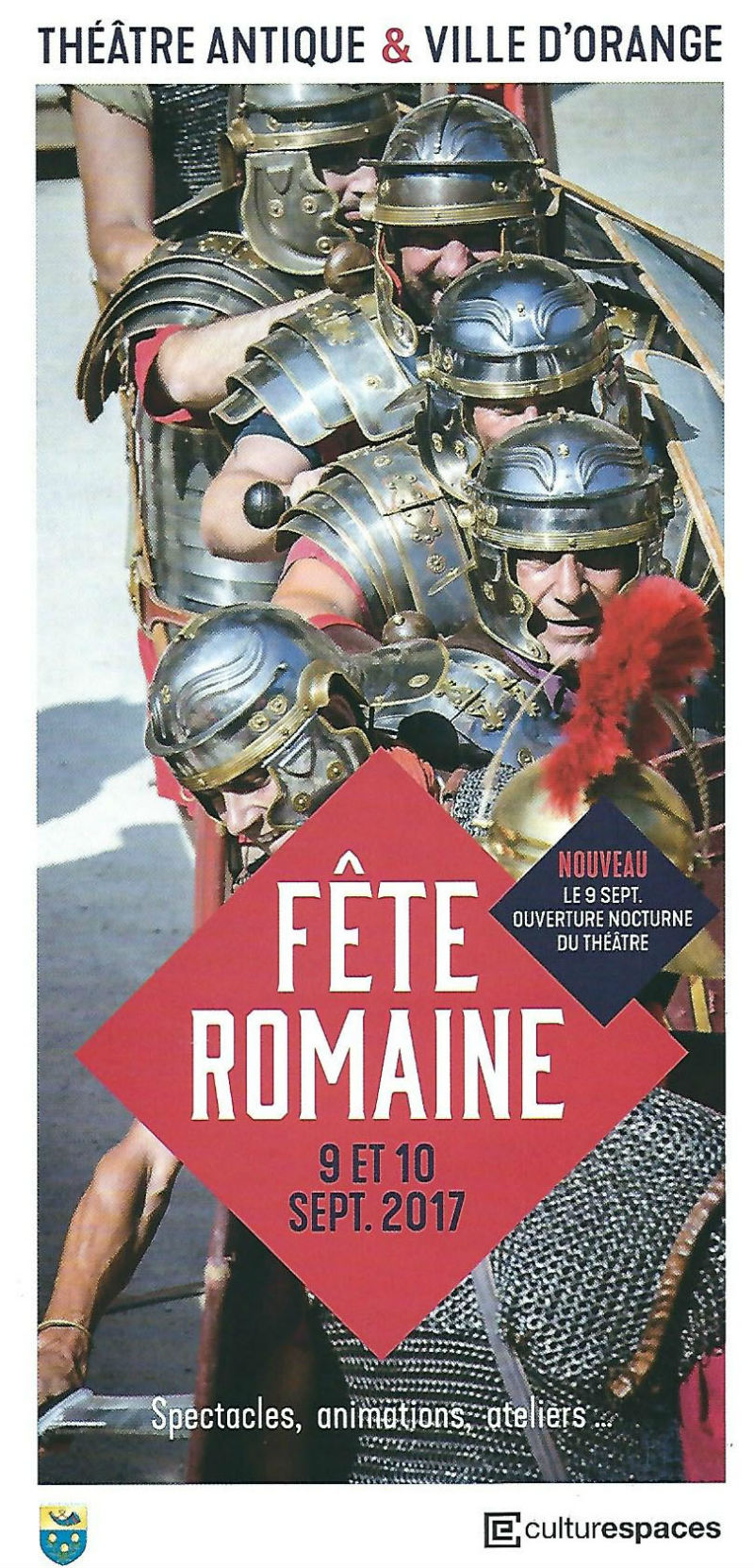 Ceci est le flyer (couverture) des Journées Romaines d