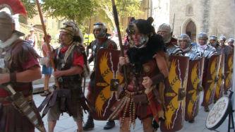 Ceci est une photo de la légion romaine lors des Journées Romaines d