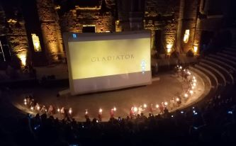 Projection du film Gladiator, théâtre antique d Orange, 12 sept 2020