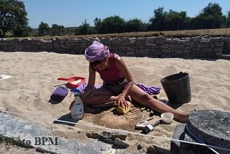 Restauration mosaïque, villa romaine de Rabaçal (Portugal, région centre, en juillet 2021.)