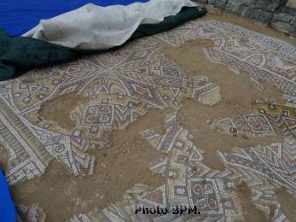 Pavement de la villa romaine de Rabaçal.