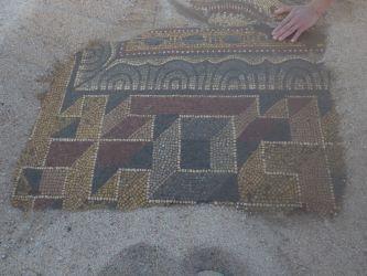 Villa romaine de Rabaçal, frise du pavement printemps