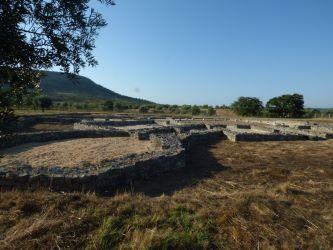 Villa romaine de Rabaçal au soleil couchant, juillet 2020.