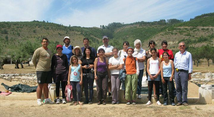 Ceci est une photo de groupe en juillet 2010 à Rabaçal.