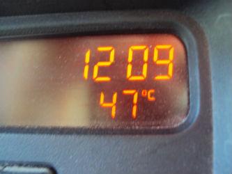 Ceci est une photo indiquant 47° à 12h09 à Rabaçal, en juillet 2012.