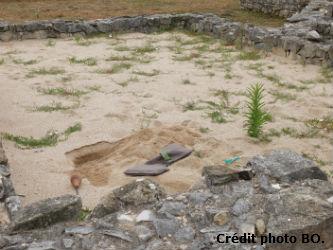 Ceci est une photo de la villa romaine de Rabaçal avant l