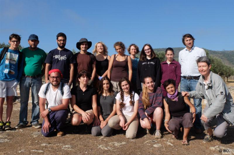 Ceci est une photo de groupe à la villa romaine de Rabaçal (Portugal, juillet 2017).