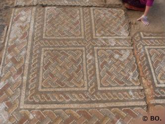 Ceci est une photo de de pavements de mosaïques à la villa romaine de Rabaçal (Portugal) en juillet 2017.