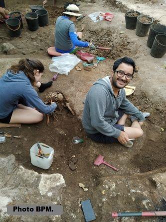 Chantier de fouilles à São Simão, Portugal, juillet 2020.