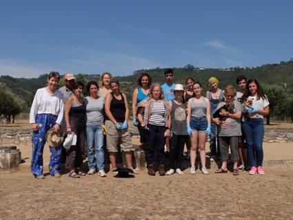 Ceci est une photo de groupe à la villa romaine de Rabaçal.