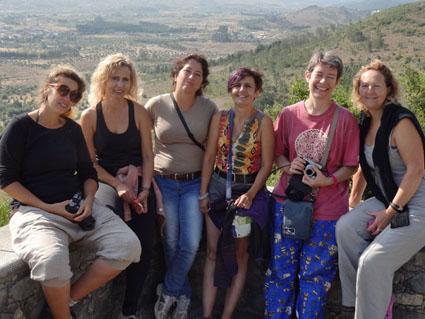 Ceci est une photo de groupe sur les hauteurs de la villa romaine de Rabaçal.