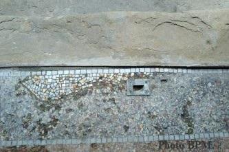 Photo après restauration mosaïque couloir, Toulouse.