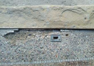 Photo avant restauration mosaïque couloir, Toulouse.