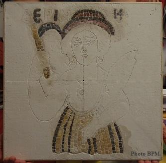 Mosaique de Karine, en marbre représentant Demeter